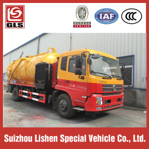 5000L High Pressure Water Suction Sewage Truck