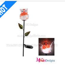 Estojo de Luz Solar Metálica e Vidro Owl New Arrival