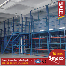 2 Levels Multi Tier Mezzanine Rack Steel Platform For Printing / Electronic Industry
