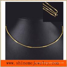 Los hombres y las mujeres Titanium vendedores calientes del collar de la manera del collar del acero inoxidable con la galjanoplastia del vacío (SSNL2632)