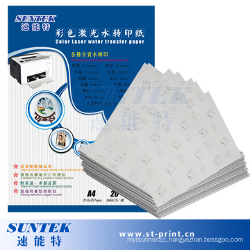A4 Size Laser Papel Transfer Water Slide Decal Paper (STC-T06)