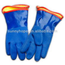 sandy PVC gloves with removable liner