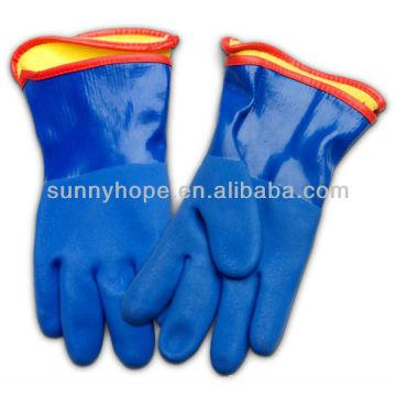 Gants en PVC sablonneux avec doublure amovible