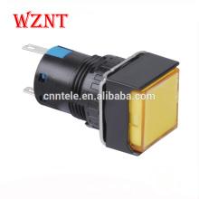 Квадратный двухцветный мини-кнопочный переключатель с подсветкой Светодиодный индикатор