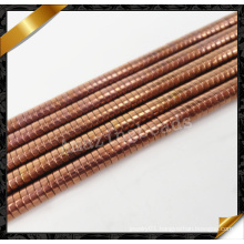 Antique Brass Copper Rondelle Beads, Copper Disc Heishi Gemstone Beads Jewelry (GB0132)