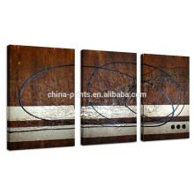 La pintura al óleo al por mayor para la sala de estar / el extracto Handcraft la pintura / la lona simple de la decoración de la pared