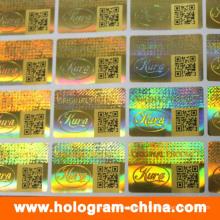 Etiqueta personalizada do holograma 3D com código de Qr