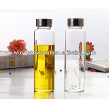 Special Offer Useful Gifts For Travelers Reusable Screw Cap Mineral Wholesale 1 Liter Glass Bottles
