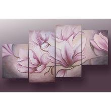Handgemachtes gerahmtes Blumen-Ölgemälde für Hauptdekor (FL4-200)