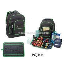 maleta de ferramentas estilo mochila 600D com ferramenta armazenar sistemas dentro
