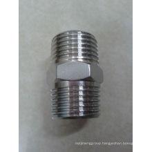 304 316 stainless steel pipe nipple screw fittings