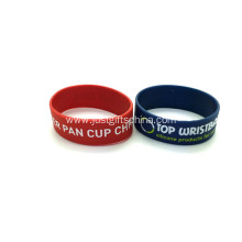 Promotional 1 Inch Silicone Wristbands Printed