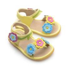 Sandálias Squeaky para flores Corlorful Flowers
