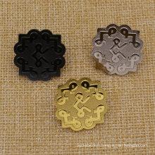 Icônes en argent à haute teneur en métal or argenté avec embrayage au beurre
