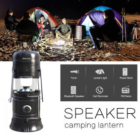 Multifunktions-Outdoor-LED-Lampe Bluetooth Musik Lautsprecher