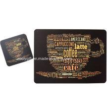 Customized Printing Promocionais Cork Cup Placemats e Coaster Set