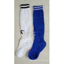 Chaussettes de football enfant en nylon avec rayures
