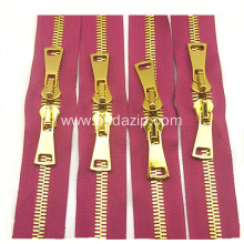 Brass #13 2 Way Metal Zipper for Bags
