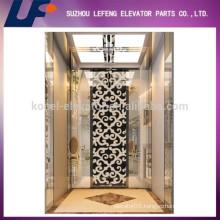 Luxurious Etching Elevators Cabin