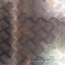 5052 5005 5754 Aluminium Tread Plate in 5 Bars Pattern