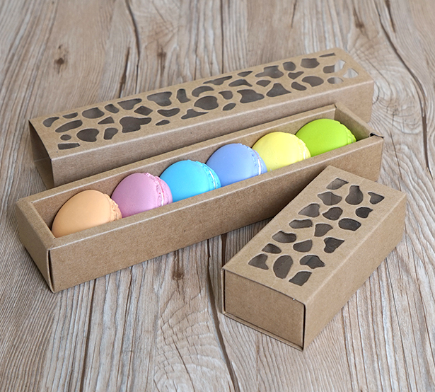Kraft macaron packaging box wholesale