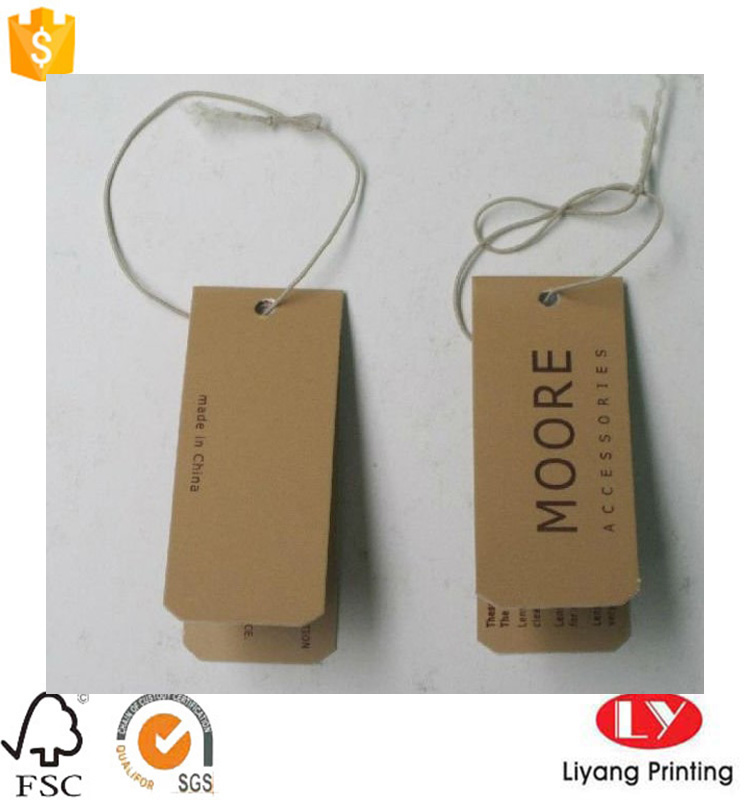 kraft paper hang tag with string