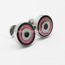 Double Sided Used Novelty Target Enamel Round Cufflinks