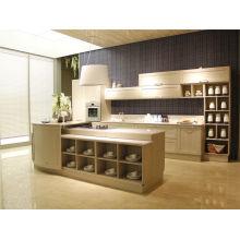 Armarios modernos de cocina de laca Muebles con diseño personalizado