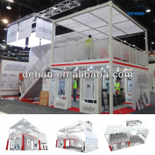 modular double deck system exhibition with portable stairs from detian display