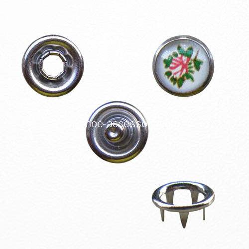 Metal Prong Type Snap on Button pour vêtement