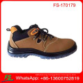 Cow Suede Leather Men Low cut safety shoes in steel toe cap