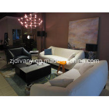 Italian Style Modern Sofa Living Room Leather Seating Sofa Set (D-76A & B &C)