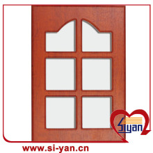 Kitchen glass cabinet doors with wooden frame