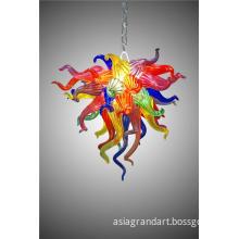 Multi Color Fancy Modern Crystal Lamp Shade Fiber Optic Lighting