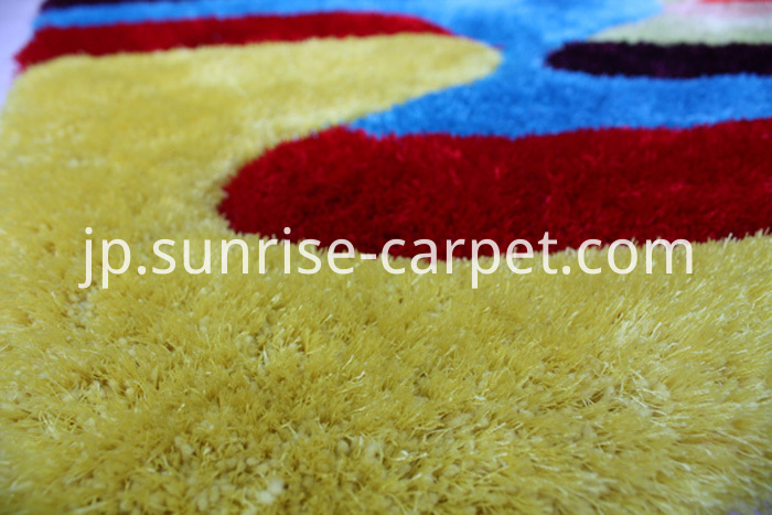 Polyester 3D Shaggy Rug with Multi Color