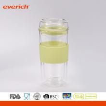 BPA Free Double Wall Glass Copo De Vidro De Forma Simples