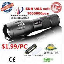 Die meisten leistungsstarke wiederaufladbare CREE Zoom LED Taschenlampe