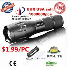 Más potente recargable CREE Zoom LED linterna antorcha
