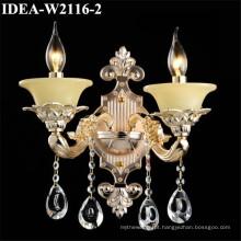 cabeceira de iluminação de cristal antiga da lâmpada de parede