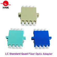 LC Quad Singlemode, Multimodo, Om3 y APC Adaptador de fibra óptica