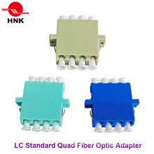 LC Quad Singlemode, Multimode, Om3 and APC Fiber Optic Adapter