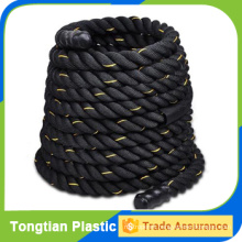 Good quality battle rope with orange tracer