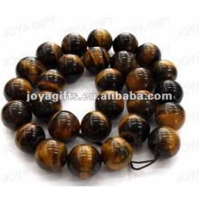 14MM Sphere Shaped tigereye stone beads