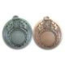 Liga de zinco Antique Design Medalha de inserção em branco - níquel, cobre, latão