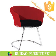2016 New Design Modern Home Goods Bar Stools Red Flanel Fabric And Stainless Steel Legs Tub Chair