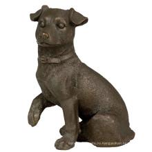 Животных Бронзовая Скульптура Собака Резьба Декор Латунь Статуя Т-654