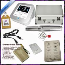 Permanent Make-up-Stift Tattoo Augenbraue Maschine Kit Ring Tipps Nadeln Caps, dauerhafte Augenbraue Tattoo-Kit, Permanent Make-up-Maschine-Kit