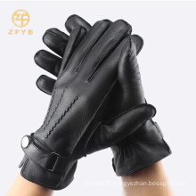 Top quality unlined men's deerskin leather gloves