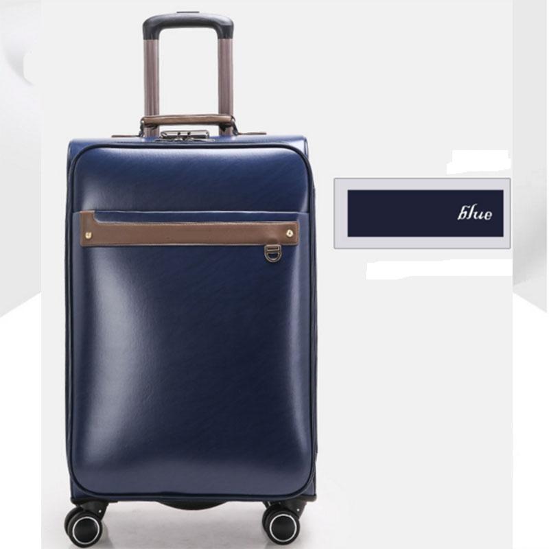 Blue pu luggage