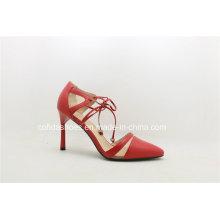 2017ss Neueste rote Farbe Sexy Dame High Heel Damen Schuhe